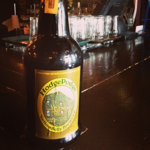 Yellowbelly Hodge Podge seasonal beer