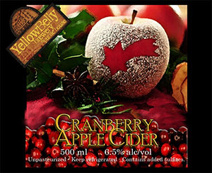 YellowBelly Cranberry Apple Cider 2014